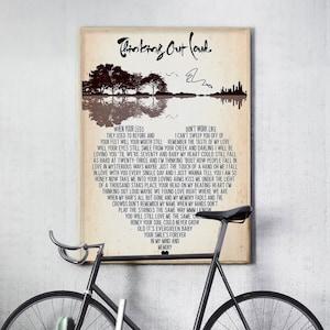 Fan Wall Art Ed Sheeran A4 Lyric PosterPrint