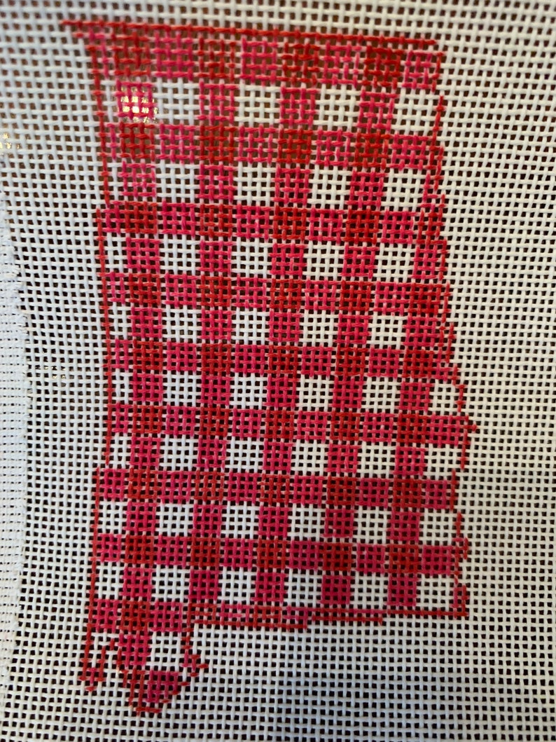 Customizable State Gingham Needlepoint Canvas