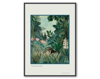 ARTCANVAS The Equatorial Jungle 1909 Canvas Art Print by Henri Rousseau