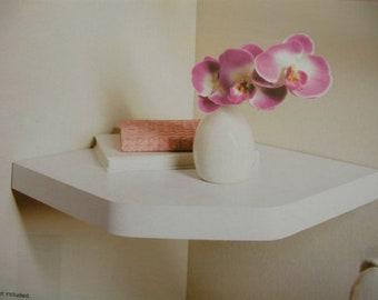 Corner Shelf - Wall Floating Shelf/Home Decor - White NEW
