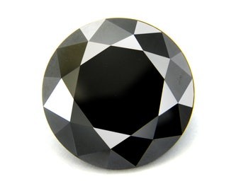 1 Carat to 3 Carat Certified Loose Black Diamonds in Round Brilliant Faceted Cut, For Jewelry Making! Great Shine And Elegant Look