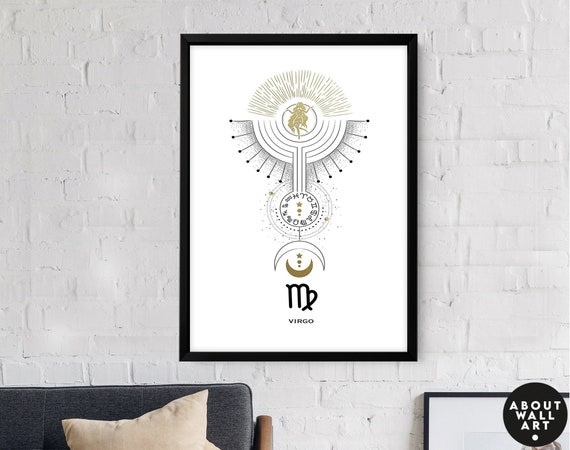 Zodiac art prints Cancer gifts, Horoscope print personalised gift for sister, Cancer Constellation, July and June Birthday gift, Astrology