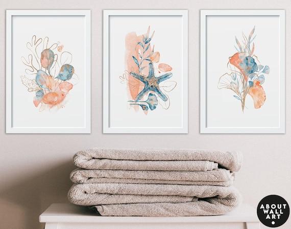 Bathroom Products, Set of 3 Guest Bathroom Print, Bohemian Decor, Relaxation Gifts, Bathroom Wall Decor, Bathroom Art, Spa Bathroom Art