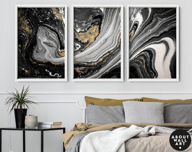 Home Decor wall art Wall hanging set of 3 Prints office image 1