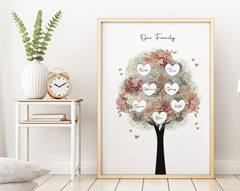 Cute gift for mom, Gift For Mum, Step Mom Gift, Personalized gifts for mom, Grandma Mothers Day Gift, Personalised Family Tree