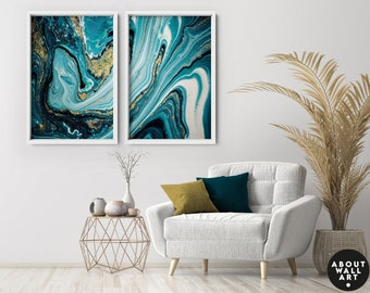 Wall Decor Living Room, Home Decor, Wall hanging Set of 2 Prints, Office decor gift, above bed decor, Abstract wall art, new home gift