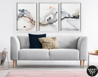 Home Decor, Wall hanging, Set x 3 Prints, office decor, Living Room decor, wall decor, art prints, Minimalist gallery wall