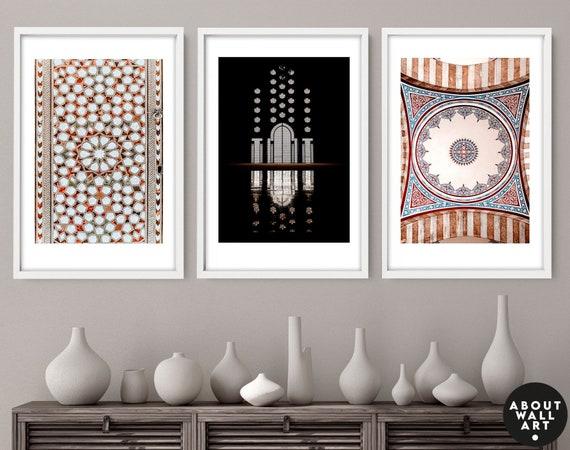 Islamic Art, Muslim Gift, Ramadan Decor, Bismillah Wall Art, Set of 3 Islamic Wall Decor, Islamic Wedding Gift, Quran Gift