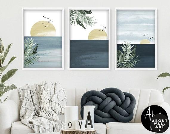 Coastal Decor, Modern Surf Wall Art, Beach Creations, Beach Lover Gift, Beach Decor, Coastal Wall Art, Set of 3 California Coast Print