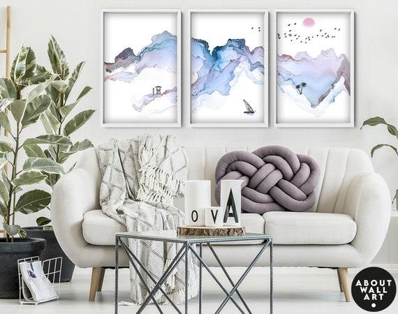 Beach Decor, Coastal Wall Art, Set Of 3, California Coast Print, Coastal Decorations, Beach Lover Gift, Surf Wall Art, Surf Lover Gift