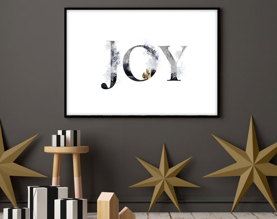 Cute christmas gift living room decor wall art for mom, Modern Christmas decorations for the home, Sentimental presents, peace joy love sign