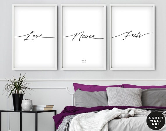 Personalised anniversary gift set of 3 art prints, unique wedding gift for couple, above the bed art, new home gift, engagement gift for her