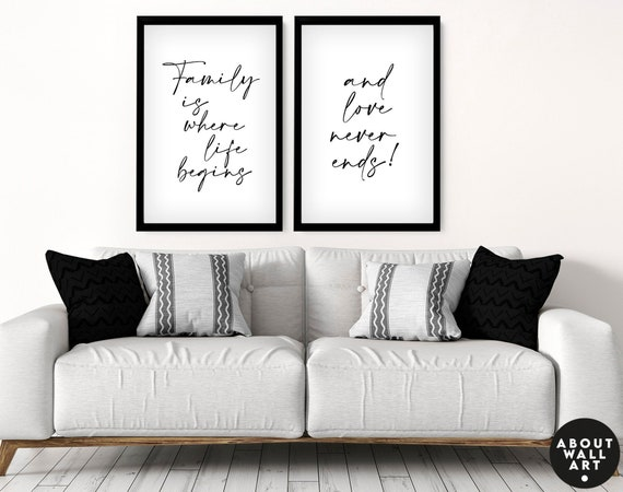 Custom Family Print, Set of 2 Family Gift, Personalized gifts for mom, Mothers Day Gift Ideas, Gift For Mum, Cute gift for mom
