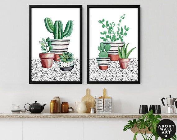 Kitchen Decor Ideas, Garden Mom Gift, Gardener Gifts For Women, Kitchen Gift For Mum, Personalised Gift For Mom set of 2 At Prints