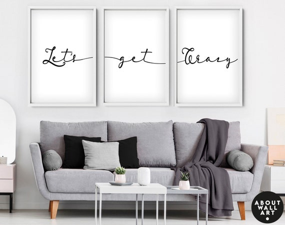 Unique wedding gift for couple, Personalised anniversary gift set of 3 art prints, above the bed art, new home gift, engagement gift for her