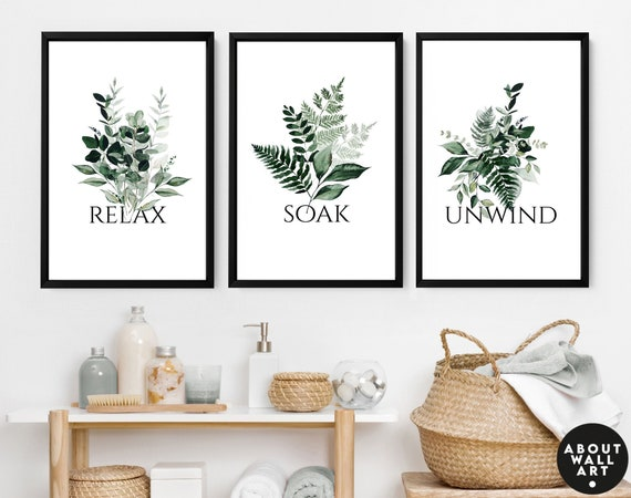 Home Decor Bathroom, Bathroom Wall Decor, Spa Bathroom Decor, Guest Bathroom Print set of 2 , Bohemian Decor, Relaxation Gifts for mothers