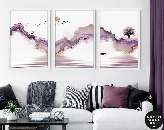 Living room wall decor, Home Decor Wall hanging, Japanese Art New Home gift, Office decor gift, Zen Garden Set of 3 Prints