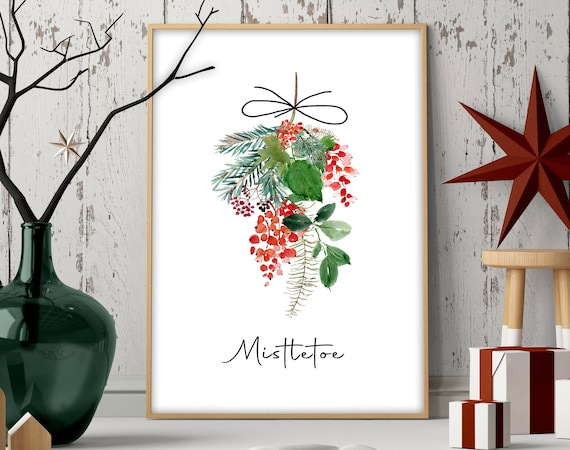 Cute christmas gift for mom, Mistletoe Ornament Welcome sign for front porch, Sentimental christmas presents for mother in law, xmas sign