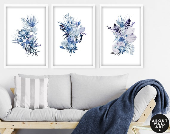 Home Decor Wall art, Wall decor living room set of 3 Tropical decor art prints,  Office decor gift for mom, House warming gift for friend