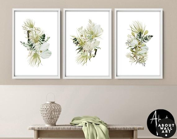 Home Decor, Wall hanging, Set x 3 Prints, office decor, Living Room decor, wall decor, art prints, Botanical Print, botanical herb print