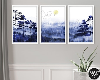 Home Decor wall art, Wall hanging set x 3 Prints, office decor, Living Room decor, wall decor art prints, Minimalist gallery wall