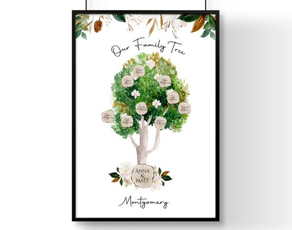 Personalized gifts for mom, Grandma Mothers Day Gift, Step Mom Gift, Gifts For Mum, Personalised Family Tree, Cute gift for mom