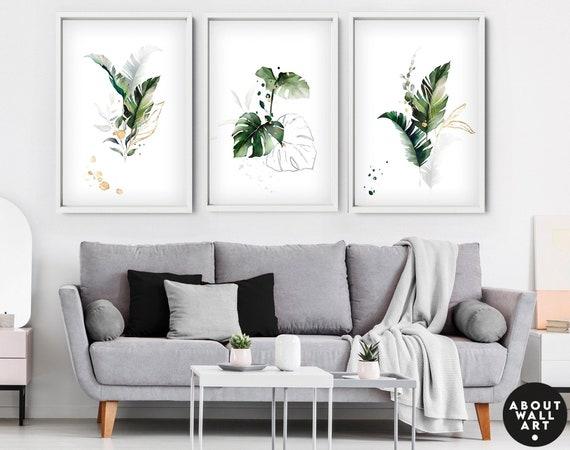 Botanical Illustration Set x 3 Prints, Home Decor, Wall hanging, office decor, Living Room decor, wall decor, art prints, Botanical Print