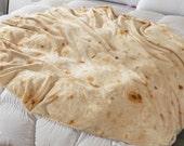Novelty Big Burrito Blanket for Adult and Kids Premium Soft Flannel Round Burrito Giant Burrito Blanket Tortilla Blanket Indoors Outdoors