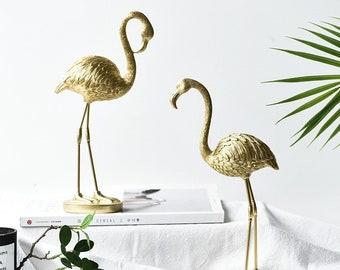 Nordic golden flamingo ornaments Light luxury decorations