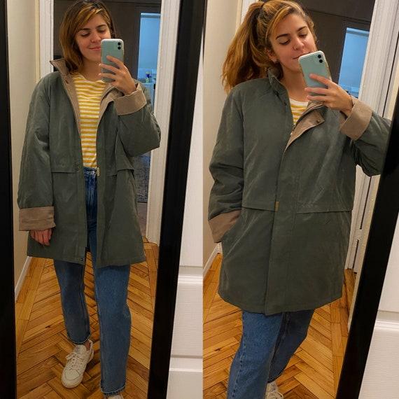 Oversized army green winter coat / Braetan winter