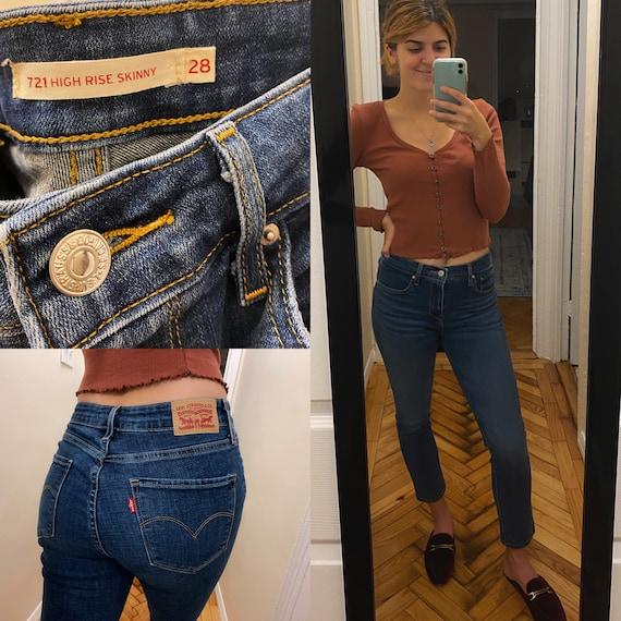 Womens High Waist Levis Strauss Jeans / Levis Stra