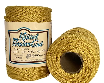 Honey Mustard 5mm / 50yd Vintage Knitted Cord