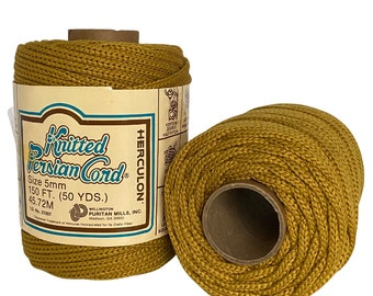 Harvest Gold 5mm / 50yd Vintage Knitted Cord