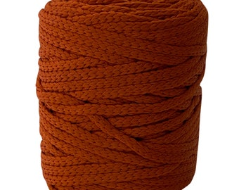 Rust 5mm / 100yd Vintage Knitted Cord