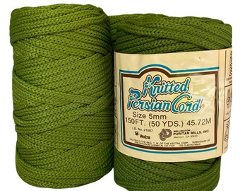 Moss Green 5mm / 50yd Vintage Knitted Cord