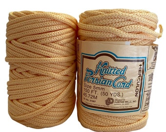 Eggshell 5mm / 50yd Vintage Knitted Cord