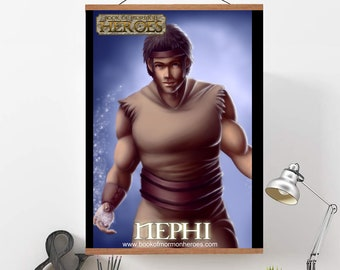 """Book of Mormon Heroes Nephi 24"""" x 36"""" Poster"""