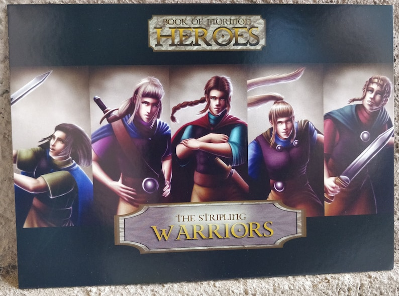 Book of Mormon Heroes Stripling Warriors Collector Card image 0