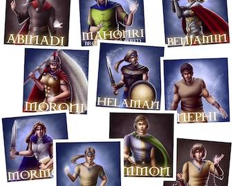 Favorite Book of Mormon Heroes Sticker Pack