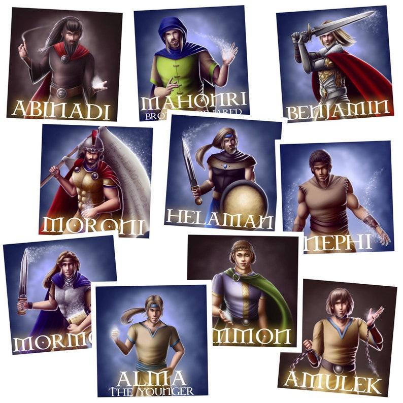 Favorite Book of Mormon Heroes Sticker Pack image 1