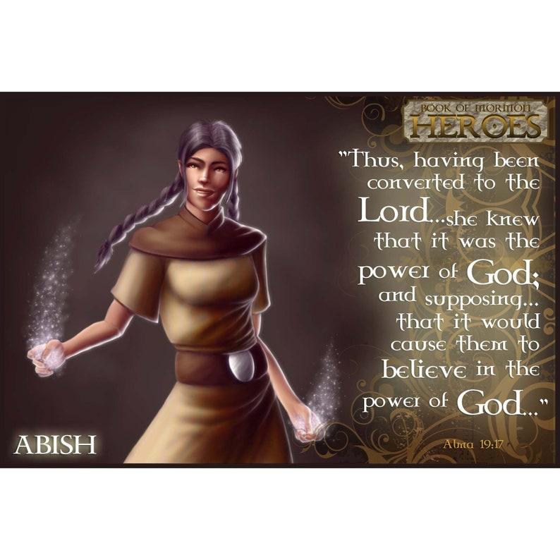 Book of Mormon Heroes Abish Collector Card image 0