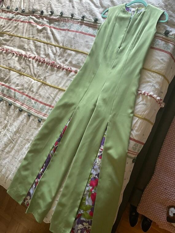1970s mint green jumpsuit - image 8