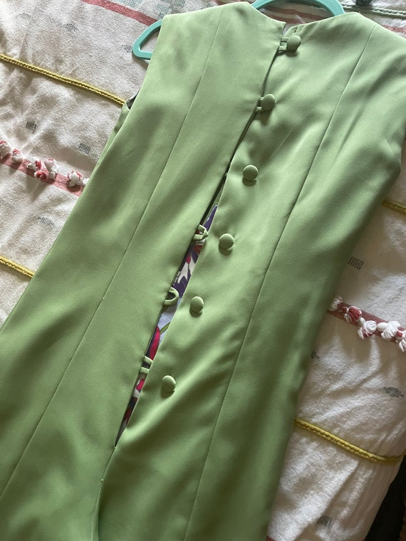1970s mint green jumpsuit - image 5