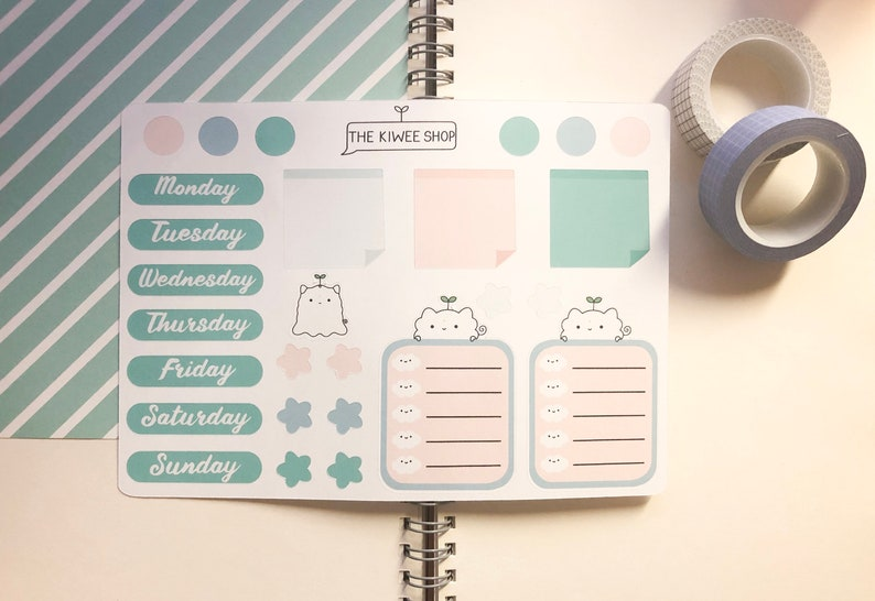 PoofWee Journal & Planner Sticker Sheet  Cute Stickers  image 0