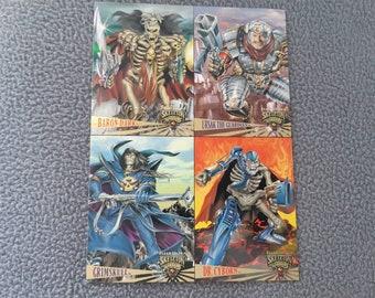 Fleer Ultra 1995 Skeleton Warriors Premiere Edition Promo Sheet Uncut 4 Card.