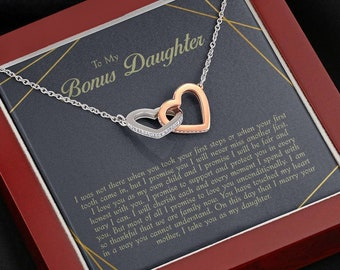infinity Cross Stepdaughter Gift Necklace: Gifts from Stepmom Wedding Stepsister Blended Family Daughter of Bride or Groom