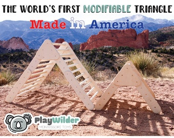 The World's First Modifiable Climbing Triangle - It will grow with your child as they get older.