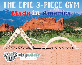The Biggest 3-Piece Gym On Etsy - From PlayWilder - Made In America