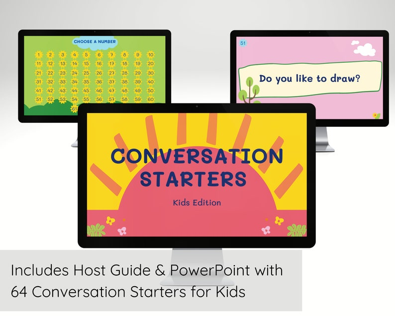 Virtual Conversation Starters for Kids Virtual Learning Zoom image 0
