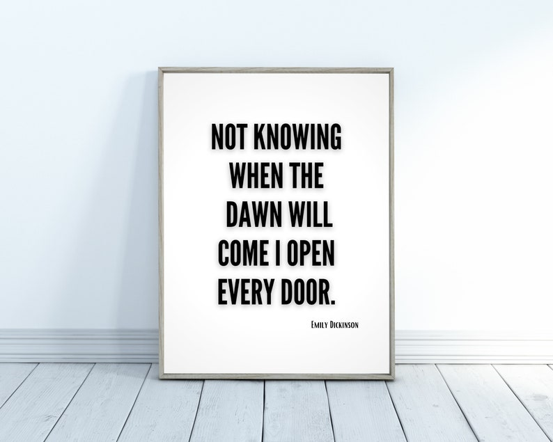 Emily Dickinson Print Poetry Print Literary Gifts for Teens image 0